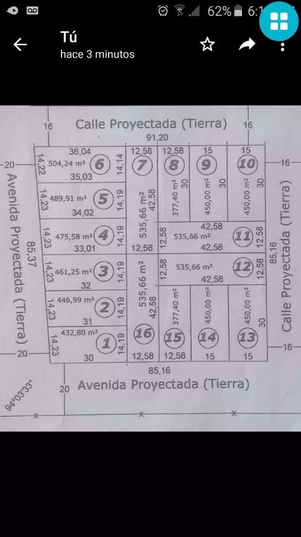 Vendo terreno en Ituzaingó ctes 15 de frente x 40 de fondo