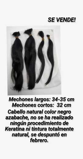 Venta de cabello natural negro azabache