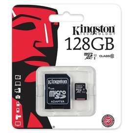 Memoria ORIGINAL Micro Sd 128 gb Kinston Blister Sellado Con Adaptador