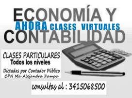 CLASES CONTABILIDAD, ADMINISTRACIÓN, ECONOMÍA, y afines