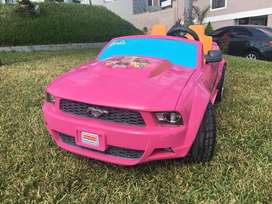 Carro electrico Barbie Mustang Power Wheels
