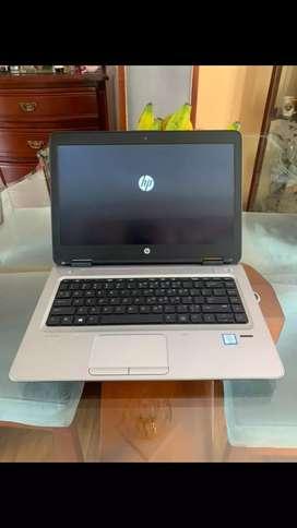 Hp 640 G3 core i5 7th gen 8gb ram 120gb sólido pantalla de 14 mínima marca negra en la pantalla mirar fotos