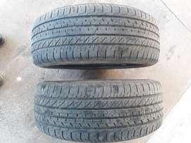 2 Neumáticos USADOS Goodyear 195/55 r15 85h Eficientgrip para FOX/Suran
