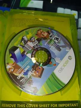 Minecraft Xbox 360 dvd original físico completo