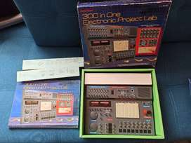 300 in one electronic project lab + Science Fair Vintage Crystal Radio Kit 28-177 Tandy Radio Shack 1994