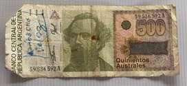 Billete de 500 Australes