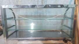 2 vitrinas de calefacción para fritanga