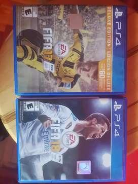 FIFA 18 y FIFA 17 para PS4