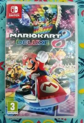 Mario Kart 8 Delux Nintendo switch.  Físico usado