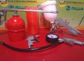 Kit De Aire Compresor 5 Accesorio