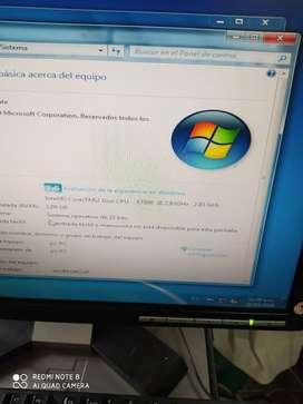 COMPUTADOR USADO CORE DOS DUO CON DISCO DE 250 RAM DOS GB MONTIOR DE 19