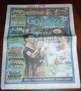 GOLAZO DIARIO DEPORTIVO POPULAR nr 3 MESSI CRISTIANO BARCELONA REAL MADRID 2013 POSTER ZLATAN PSG