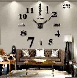 Reloj De Pared 3d Numeros Romanos Grande Plateado 100x100cm