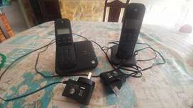 Teléfonos inalámbricos x2 con contestador