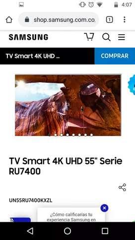Vendo Samsung tv 4k 55 pulgadas RU7400