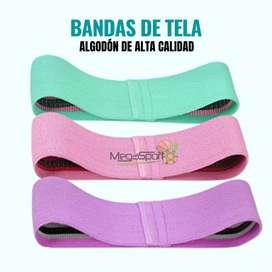 Bandas de Tela (Algodón) - Set de 3 bandas elásticas - Estuche Portátil Gratis
