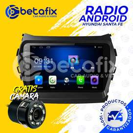 RADIO ANDROID HYUNDAI SANTA FE IX45 2013/17 GPS BT USB WIFI BETAFIX DESDE