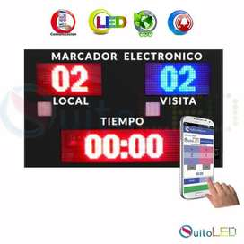 Marcador Electrónico Led Inalámbrico Exterior IP65 Deportivo Quitoled