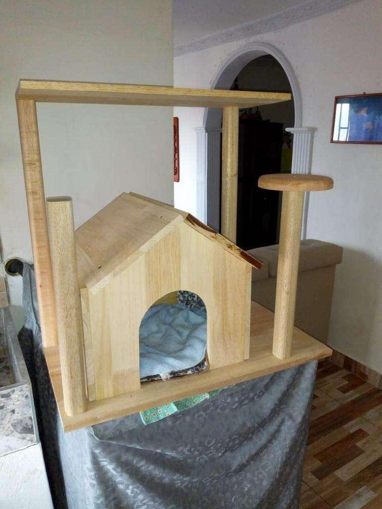 Casa para Gato con Juegos 0
