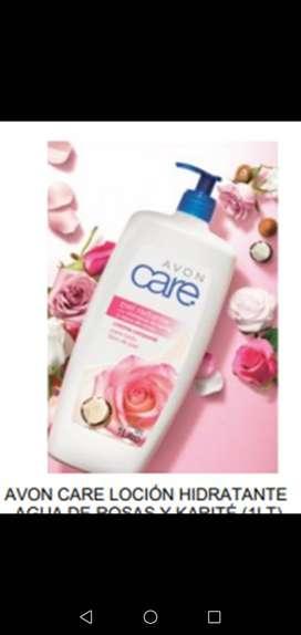 Promoción  crema litro care rosas y pepino