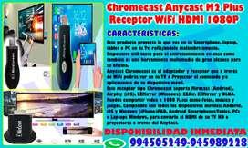 Chromecast Anycast M2 Plus Receptor WiFi HDMI 1080P
