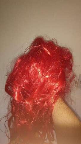 Peluca Color Rojo