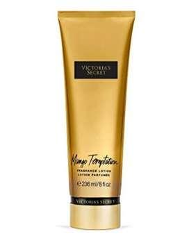 Victoria's Secret MANGO TEMPTATION Original de Tapa DORADA.  Fragancia para manos y cuerpo en crema. 200 ml.