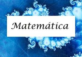 Clases particulares de Matemática, a domicilio.