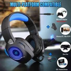 Auricular Diadema Gamer Phonikas H9 Gama Alta 7.1 Sourrund Ps4 y PC + Adaptador