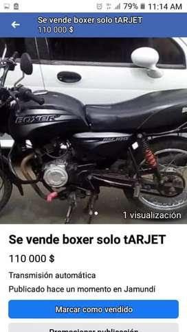 Se vende moto usada en buen estado.