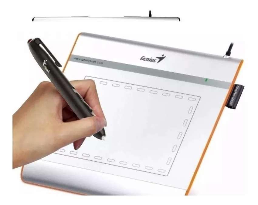 Tabla tableta Digital Genius I405x Diseñadora firmas 560 Lpi + Lapiz Optico 0