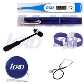 kit medico 5 Fonendoscopio, termometro, linterna, torniquete y cinta