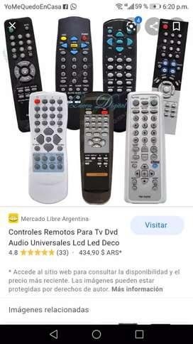 Controles para TV, antiguos y actuales, Antenas, cables para DVD, etc