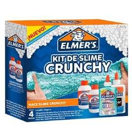 Kit Slime Elmer's Crunchy Plastilina Mágica Niños Y Niñas X4