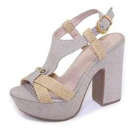 Sandalias de tacón grueso Talla 36