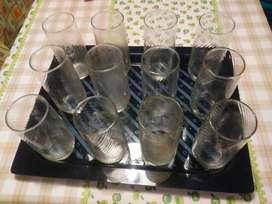 Docena de Vasos de Vidrio de 400 Ml