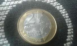 Moneda Argentina De 2 Pesos Del Año 2012
