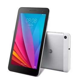 Huawei Mediapad T1 color plata + funda protectora color negro