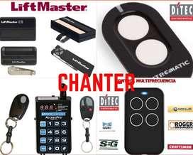 Controles Remotos para motor puertas de garaje, BFT, Roger, came, Liftmaster, linear,Nice, JFL, Ditec y vidrio templado