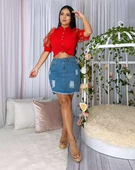 Blusa roja talla SM