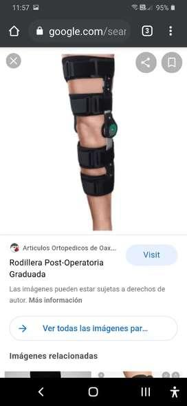 Vendo Rodillera post-operatorio graduada