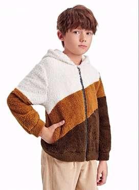 Chaqueta teddy con capucha colores tierra con envio gratuito