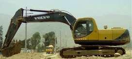 ALQUILER/VENTA DE EXCAVADORA SOBRE ORUGA VOLVO 1M3 200 SOLES H/M