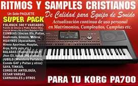Ritmos y Samples KORG pa700