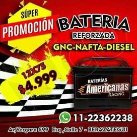 Bateria 12×75 (Nueva) Vehiculo Gnc-Nafta-Diesel