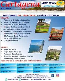 Tour cartagena salidas diciembre 12 y 19