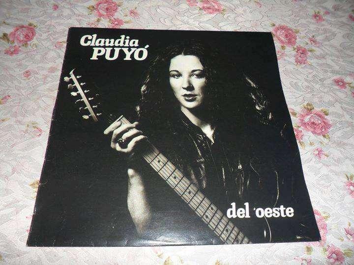 Claudia Puyó. Del Oeste. Vinilo 1985. Primera edición. Autografiado.
