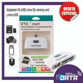 OTG ADAPTADOR MICRO USB A USB, MICRO SD