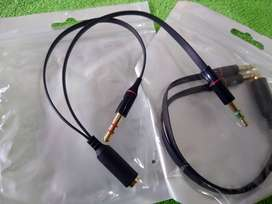 Convertidor de Diademas o audífonos a Portátil o Pc Escritorio 2x1 o 1x2