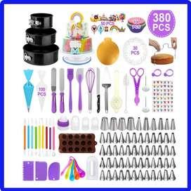 Kit de suministros para decoración de pasteles , juego de 380, herramientas de repostería tortas y Cakes y horneados